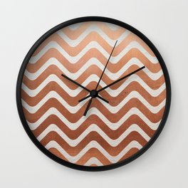 Copper and Paper Wall Clock