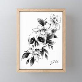 Skull Daffodils Framed Mini Art Print