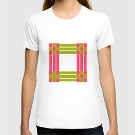 The intertwining pink and green ribbons T-shirt