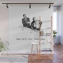 James Joyce x Ernest Hemingway - Drunken Shenanigans Painting Wall Mural