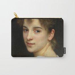 "William-Adolphe Bouguereau ""Portrait of Gabrielle Cot"" Carry-All Pouch"