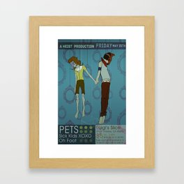 Pets Poster Framed Art Print