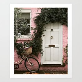 A Pink Mews House, Notting Hill Art Print