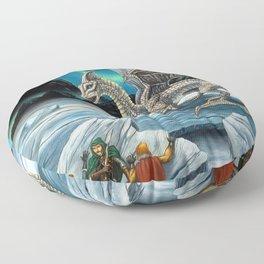 Haunt of the White Dragon Floor Pillow