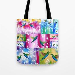 Hummingbird Cushion Tote Bag