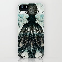 Octopus In Stormy Water iPhone Case