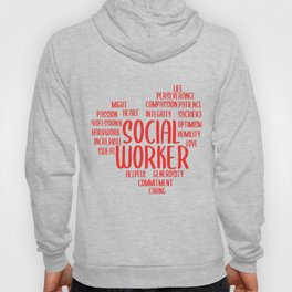 Social Worker Heart Social Care Gift Hoody