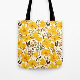 Yellow roaming wildflowers Tote Bag