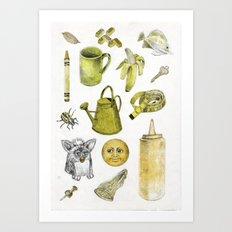 Yellow stuff  Art Print