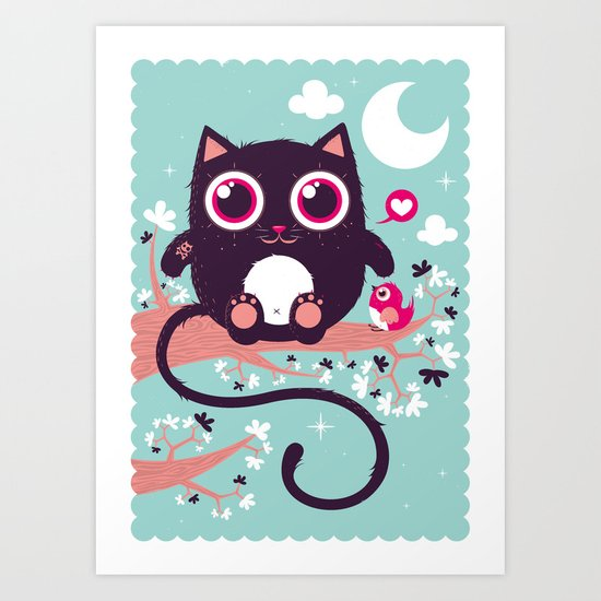 Sweet cat Art Print