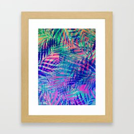 Colorful abstract palm leaves 2 Framed Art Print