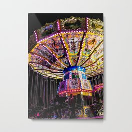Spinning Silhouettes Metal Print