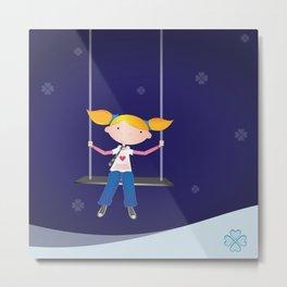 Swing Girl Metal Print