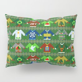 The Ugly 'Ugly Christmas Sweaters' Sweater Design Pillow Sham