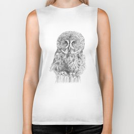 The Great Grey Owl Biker Tank