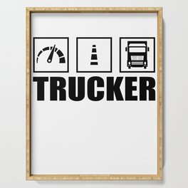 Trucker Serving Tray