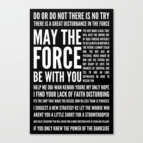 Star Wars Quotes Canvas Print