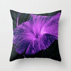 Purple Striped Glory Throw Pillow