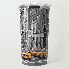 NYC - Yellow Cabs - Police Car Travel Mug