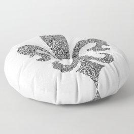 fleur de lis doodle abstract shapes Floor Pillow