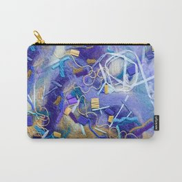 Purple Constellation Fibre Painting Carry-All Pouch