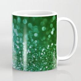 Aqua Glitter effect- Sparkling print in green and blue Coffee Mug
