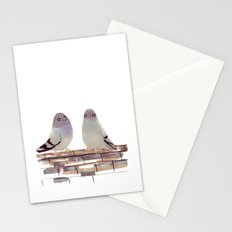 Pigeons in love Stationery Cards