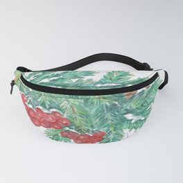 Pine Needles and Berries Fanny Pack