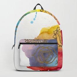 7 Chakras Watercolour Painting Backpack