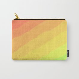 Happy Colorful Rainbow Stripes Carry-All Pouch