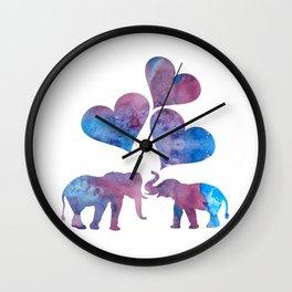 Elephants art Wall Clock