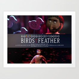Birds of a Feather: Film Poster Art Print