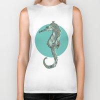 seahorse Biker Tanks featuring Seahorse by Rachel Russell