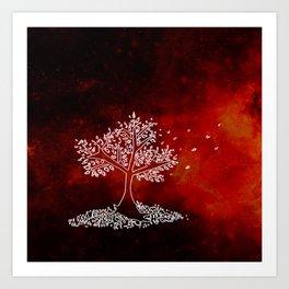 Wind On a Fiery Day Art Print
