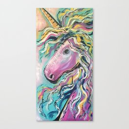Fabulous Rainbow Unicorn Canvas Print
