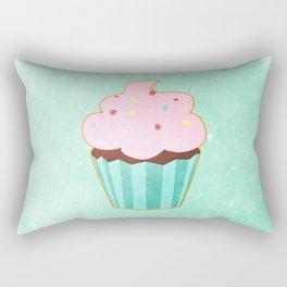 Cupcake tasty, sweet illustration Rectangular Pillow