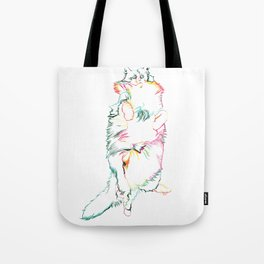 Fluffy Kitty Tote Bag