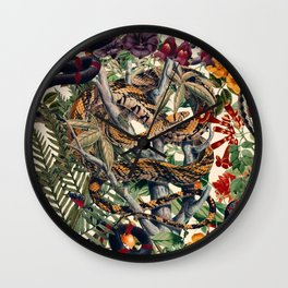 Dangers in the Forest II Wall Clock