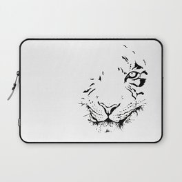 Tiger - black and white Laptop Sleeve