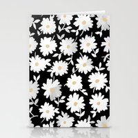 pushing daisies Stationery Cards featuring Daisies by leah reena goren