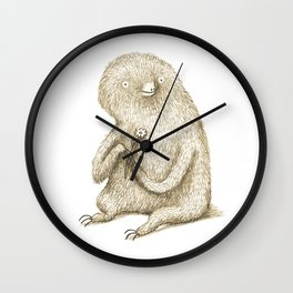 Sloth With Flower Wall Clock