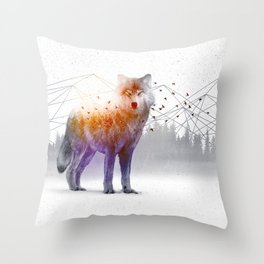 A Wilderness Within / Wolf Throw Pillow