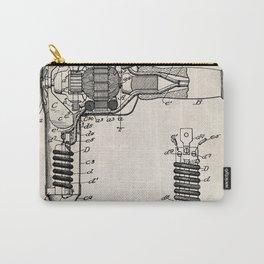 Hair Drier Patent - Salon Art - Antique Carry-All Pouch