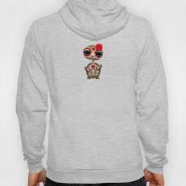 Red Day of the Dead Sugar Skull Baby Turtle Hoody