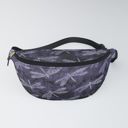 Purple Dragonfly Twighlight Dance Fanny Pack