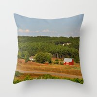 farm Throw Pillows featuring Farm by greenelent