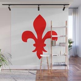 Fleur de Lis (Red & White) Wall Mural