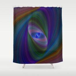 Elliptical fractal Shower Curtain