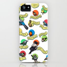 February Birds -birds only iPhone Case