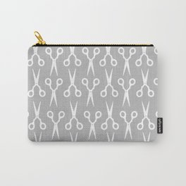 Grey Scissors Carry-All Pouch